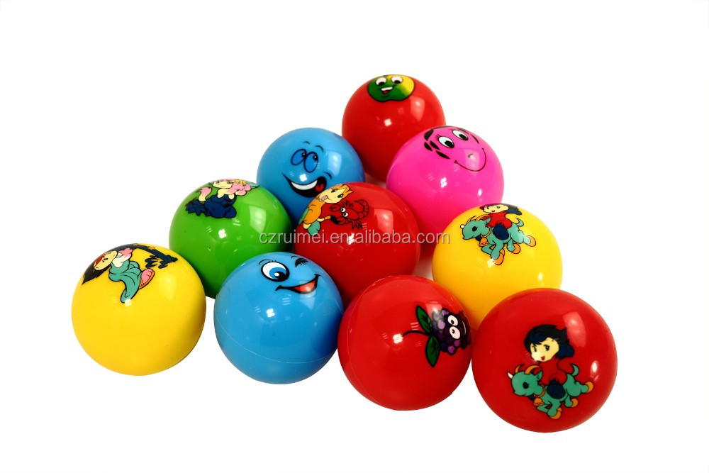 Eco-friendly PVC Inflatable printing pokemon toy ball with handle /bouncy ball with handle for kids