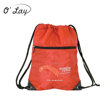 Front Zipper Nylon Mesh Pocket New Drawstring Bags/Backpack