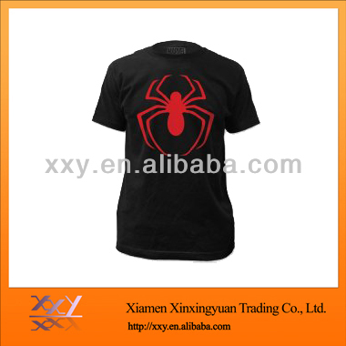 OEM Blank Men's Spider Printed T-shirt Black And Red Combine