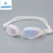 sports equipment sky diving goggles transparent lens silicone swim goggle