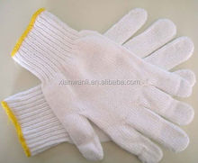 poly cotton knitted cheap work gloves