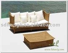 outdoor rattan sun bed