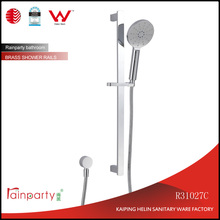 Watermark certified Bathroom brass wall mount shower sliding Bar Sliding Rail for hand shower with outer water inlet