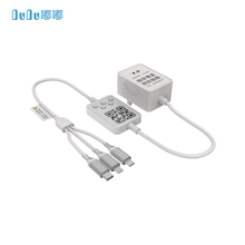 DUDU Rental Charger With 3 in 1 phone charging cable scan QR Code to pay For Hotel Bus Taxi Wall-mounted Charger