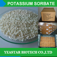 High Qulity Factory Supply Potassium Sorbate/FDA approved natural soy milk preservative /Granular E202