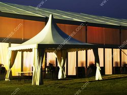 Outdoor shelter wedding party tents with nice decoration for event