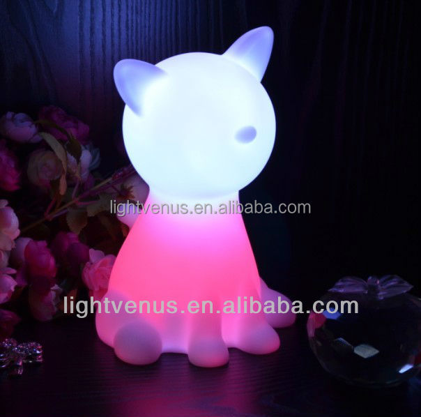 Pets Shaped plastic display led light toy for led night light kids room