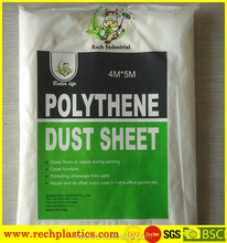Hot sale high quality PE plastic drop cloth made in China