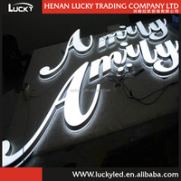 2015 New Arrival Elegant and Attractive Mini Acrylic LED sample advertising letter