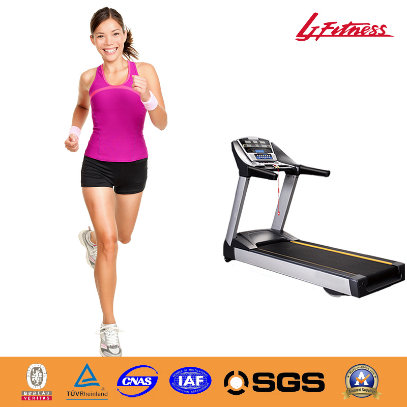 Hot Commercial Electric Treadmill in 4.0HP low-noise AC motor of running board in 30 mm and solid steel,aluminium alloy