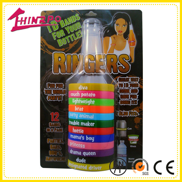 Party BAR Accessory Bottle BEER BANDS Drink Markers