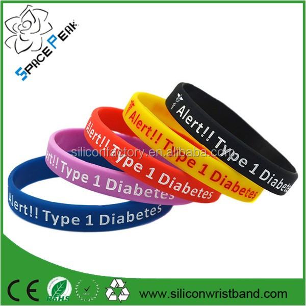 CHEAP Type 1 Diabetes Bracelet Insulin Dependent Medical Alert Silicone Wristbands