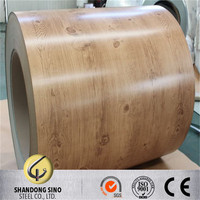 Prepainted galvanized Color coated steel coil sheet PPGI PPGL coil for corrugated metal roofing sheet from shandong Sino