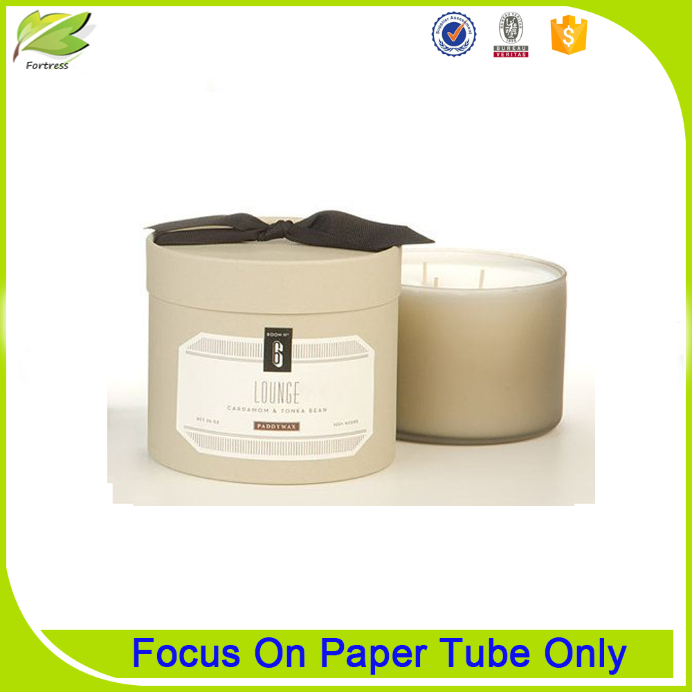 Waterproof Paper Candle Box Packaging Cardboard Tube