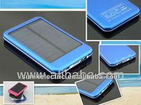 5000mah Multifunctional solar mobile phone 5v output voltage emergency portable slim power bank