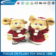battery operated wholesale mouse plush musical christmas toy