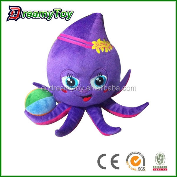 Fashionable octopus animal toys stuffed sea toys cartoon animal toys
