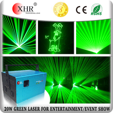 20w Outdoor Green Laser,Advertising Stage Laser Light Data Show Projector,ILDA Laser