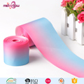 Personalized 75mm rainbow double sided thermal transfer grossgrain ribbon