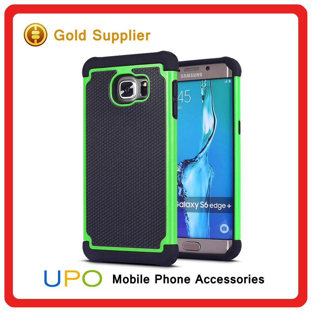 [UPO] New Arrival 3 in 1 Shockproof Plastic Silicon Back Cover Case for Samsung Galaxy Note 5 Edge