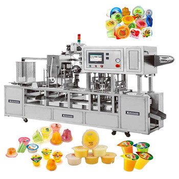 CFD- three colors jelly / nata de coco automatic filling and sealing machinery
