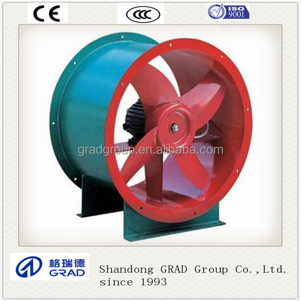 Powerful duct type air conditioner axial exhaust fan