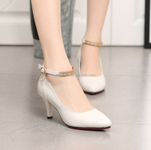 Factory directly sell white shoes ladies office wear bridal shoe
