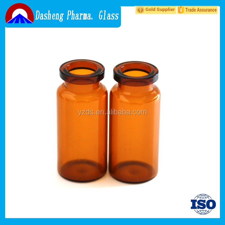Medical Consumables 10ml empty amber glass vial