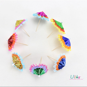 Colored small umbrella bamboo cake dessert fruit sign disposable creative toothpick decoration