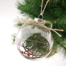 100mm Plastic Ball with pine nuts Christmas ornament tree decorations