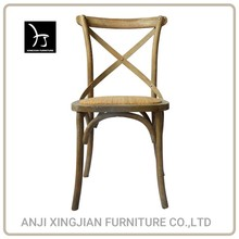 Wood Dining Chair Cross Back Chair/Oak X Back wooden Chair Rattan Seat