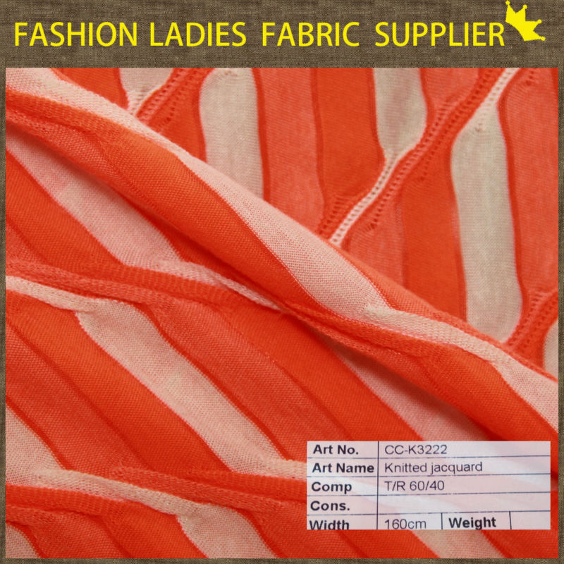 polyester/rayon knitting hachi fabric for stripe fabric
