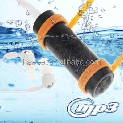 4GB Swimming Sport IPX8 Waterproof MP3 Player with FM Stereo(Black)