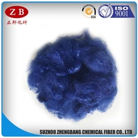 dope dyed royal blue non-siliconized polyester staple fibre