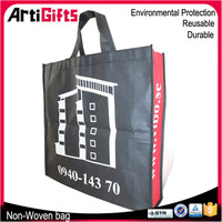 Wholesale cheap custom non woven shopping tote bag