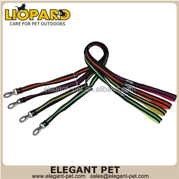 Wholesale custom print logo dog leash with rubber