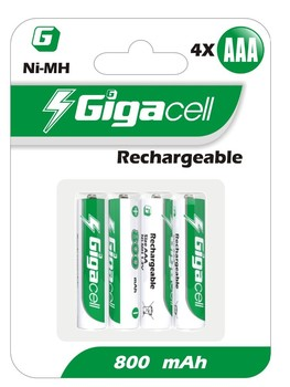 Rechargeable Ni-MH HR03 800mAh AAA rechargeable battery