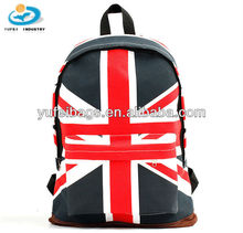 Cool Girl Boy Canvas Union Jack Style School Bag
