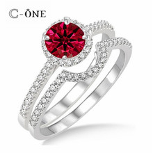 ODM Wholesale designer ruby engagement wedding rings