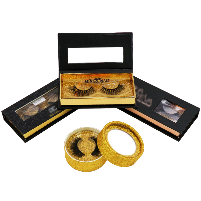 Lashes Vendor New Lifting 3d Mink Strip Eyelashes With Custom Eyelashes Packaging