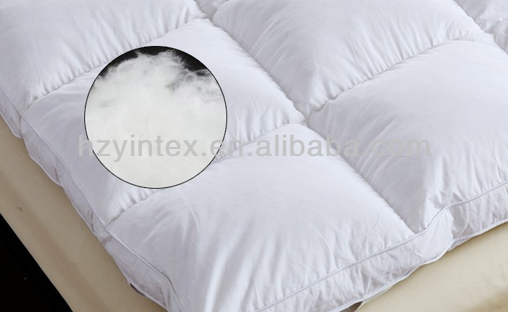 95% white duck feather box stitched with baffles compressed mattress topper - Jozy Mattress | Jozy.net