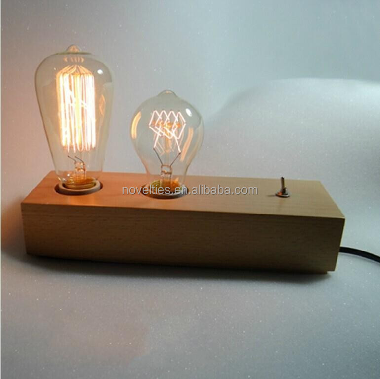 Hot selling Euroe & America edison bulb double holders antique table light with good factory price