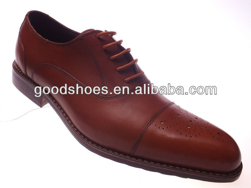 2013 New arrival fashion zapatos brown leather shoes men