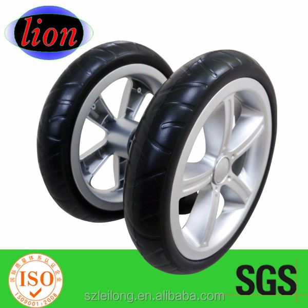 7 inch plastic EVA foam wheels for beach cart/baby stroller 7 plastic wheels