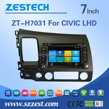 For Honda civic LHD car stereo car multimedia system auto radio car dvd gps navigation system with Rearview camera GPS DVD BT