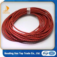 5mm Round Faux Beautiful Braided Leather