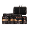 32 pcs black wooden handle Synthetic and nylon hair makeup brush set