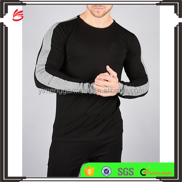 2017 OEM Pro Tops Slim Fit sport running Compression Shirts long sleeve dry fit plain fitness t-shirts