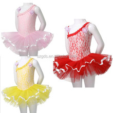 2015 Dance skirts girls dress fluffy fashion tutu skirt for girl single shoulder kids performance dance red tutu skirts