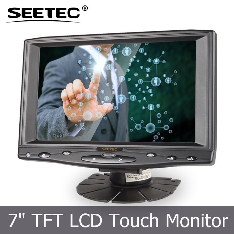 Headrest monitor 7 inch Headrest PC Monitor with Auto Rear View touch desktop monitor